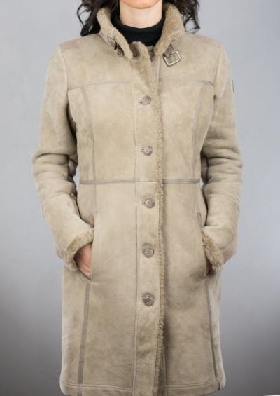 Palton blana Sophie sand
